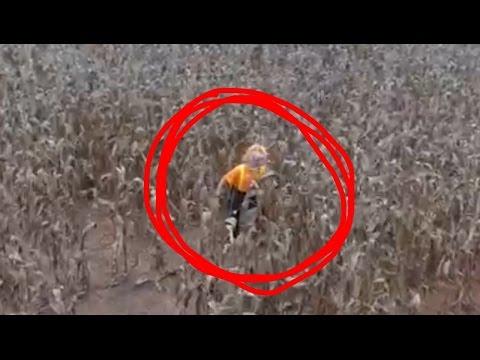 CORNFIELD CLOWN FOUND WITH DRONE!?!?