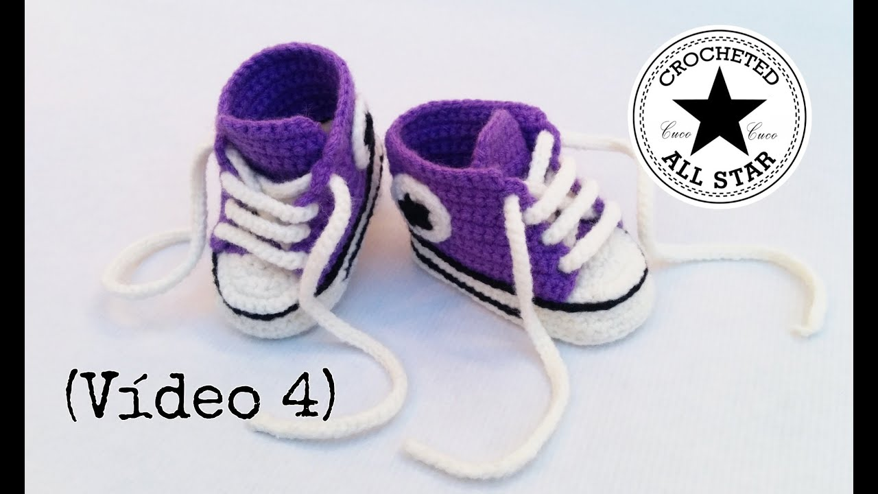 d03664578 Patucos bebé All Star a crochet (Parte IV) - YouTube