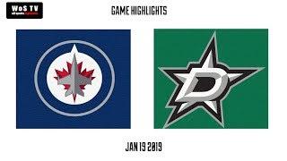 NHL Highlights   Winnipeg Jets vs  Dallas Stars   Jan  19, 2019