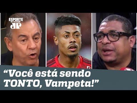 """Flamengo abre 10 pontos, e Vampeta é ZOADO: """"você tá sendo TONTO!"""""""