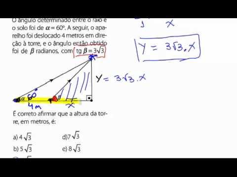 Exercicios De Matematica Vestibular Trigonometria 01 Youtube