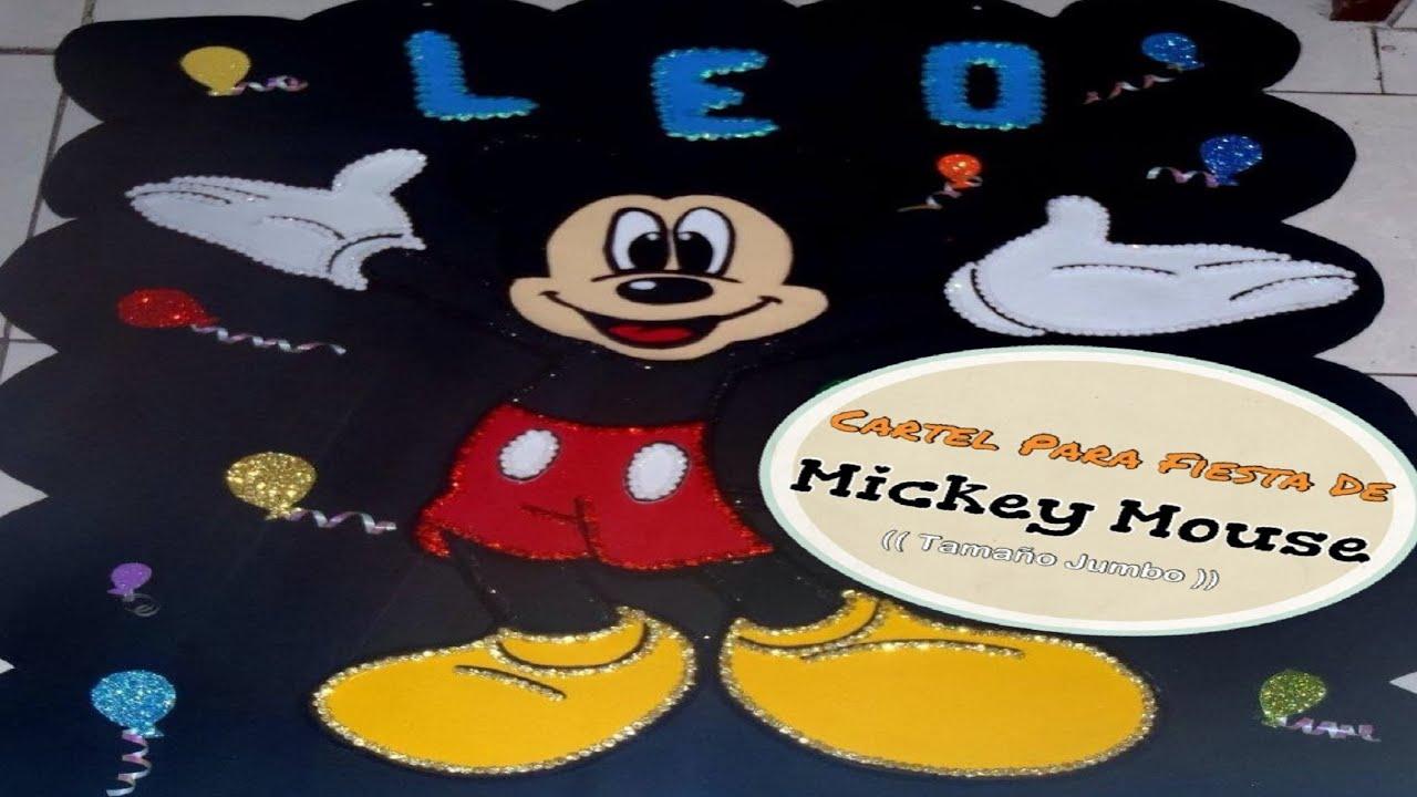 Mickey Mouse (( Tamaño Jumbo, En Foami )) - YouTube