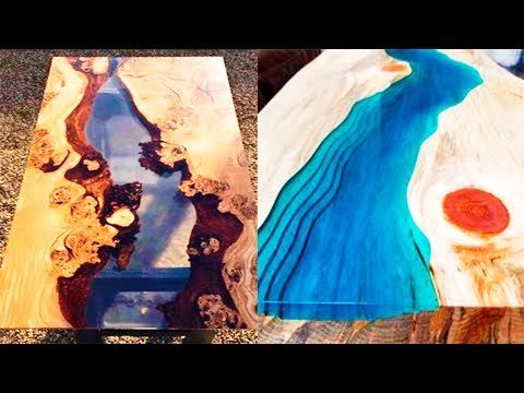 Epoxy Resin RIVER Table MAKING PROCESS 10 IDEAS with epoxy resin WOODworking projects