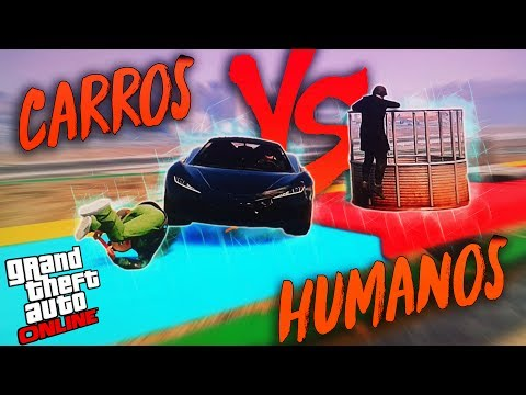 CARROS VS HUMANOS NO GTA V !