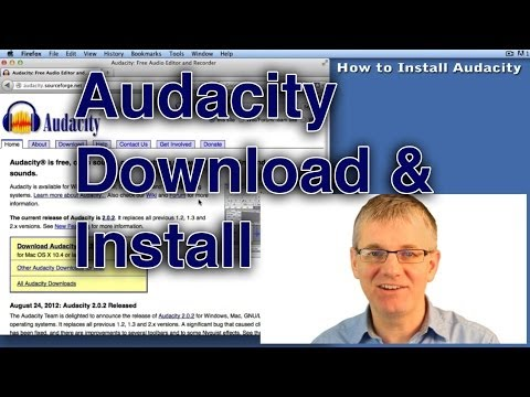 Audacity Tutorial How to Install