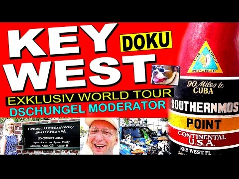 "EXKLUSIV World Tour DOKU ""Key West"" Florida Keys Ernest Hemingway Bar"