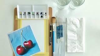 Painting Cherries by Renee Moi