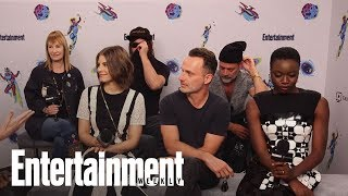 the walking dead cast on set pranks defending spoilers more sdcc 2018 entertainment weekly