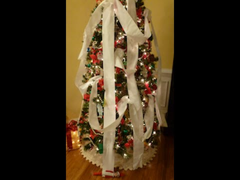 Elf On The Shelf Wrapped Up Our Christmas Tree With Toilet
