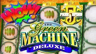 VLR HELPS THE GROUP PULL!! ★ 5 FREE SPINS & A RETRIGGER ➜ GREEN MACHINE DELUXE