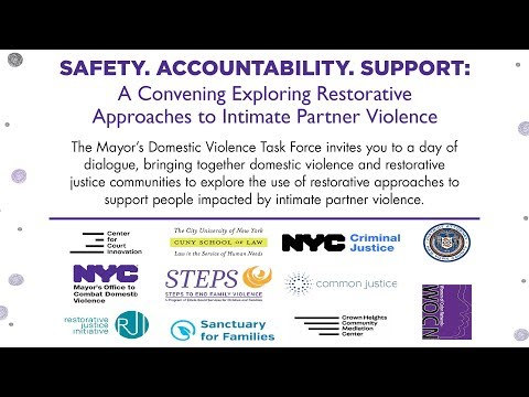 Safety, Accountability and Support: Exploring restorative approaches to intimate partner violence.