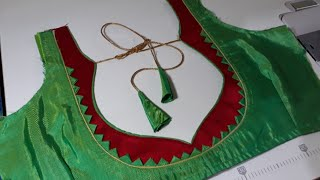 Very Easy And New Back Neck Design Only Stitching