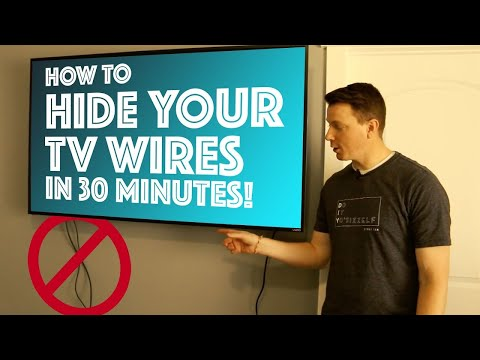 How To Hide Your TV Wires in 30 Minutes - DIY