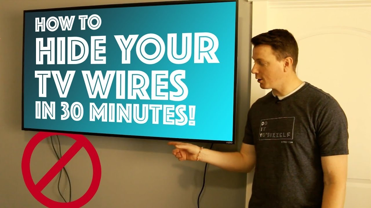 how to hide your tv wires in 30 minutes diy youtube. Black Bedroom Furniture Sets. Home Design Ideas