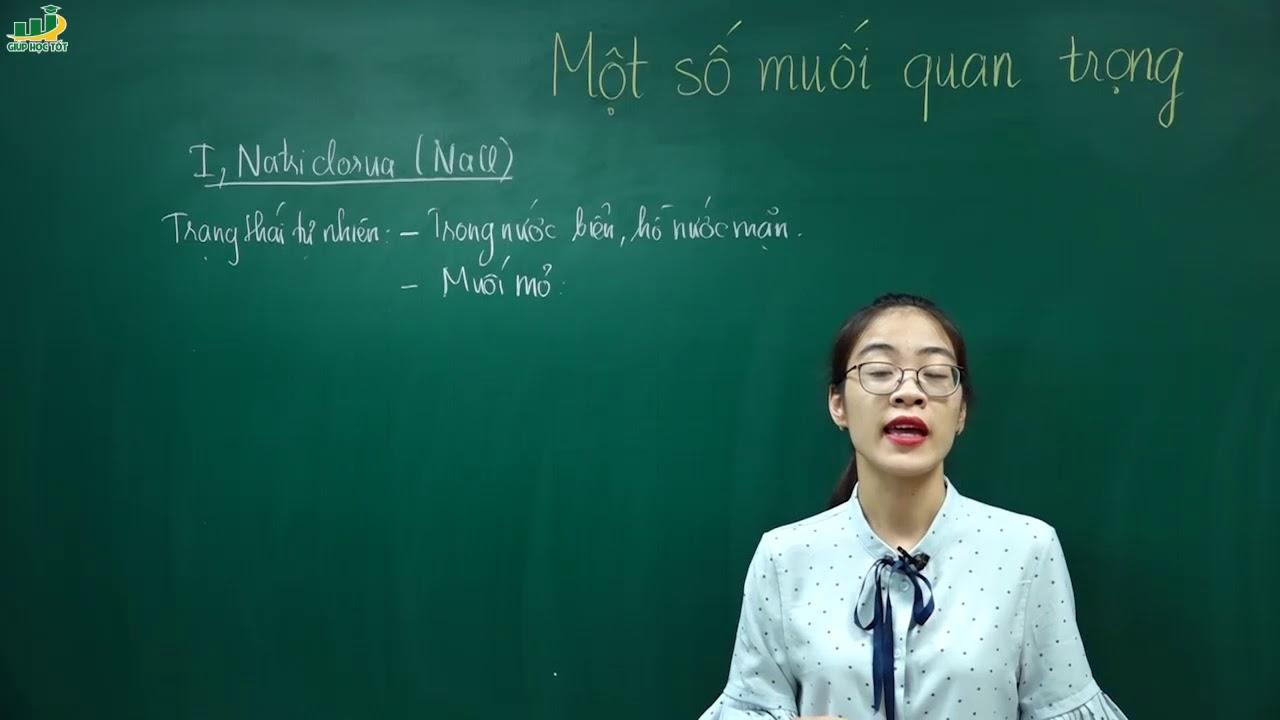 Hóa Học Lớp 9 – Bài 10 Một số muối quan trọng hóa 9