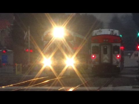Railfaning Burlingame, and San Carlos stations on 2/1/2017, Including Caltrains, Horn shows,and MORE