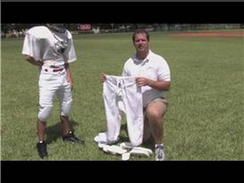Football Tips & Equipment : How to Put on 7 Pad Football Pants