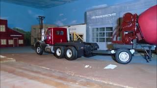 Autocar truck and Vintage cement mixer