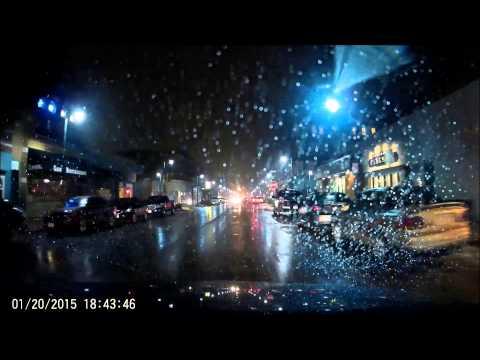 GW1-C Dash Cam Test (Deer Crossing, Night Shots With Rain)