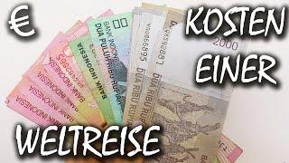 Die Weltreise finanzieren, Kosten + Geld Spar Tipps vor der Reise!