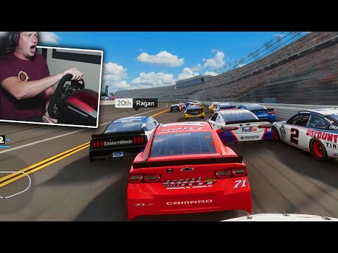 NASCAR Heat 4 Gameplay with a Wheel!