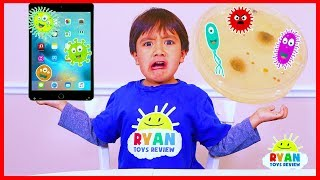 Ryan growing bacteria from his iPad! | science experiments for kids to do at home
