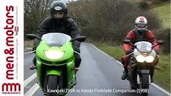 Kawasaki ZX9R vs Honda Fireblade Comparison (1998)