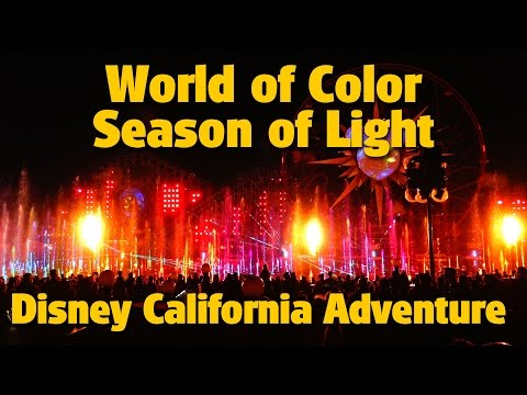 'World of Color -  Season of Light' Nighttime Holiday Show | Disney California Adventure
