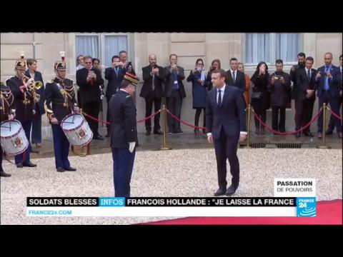 Retour en VIDÉO sur la passation de pouvoirs entre François Hollande et Emmanuel Macron