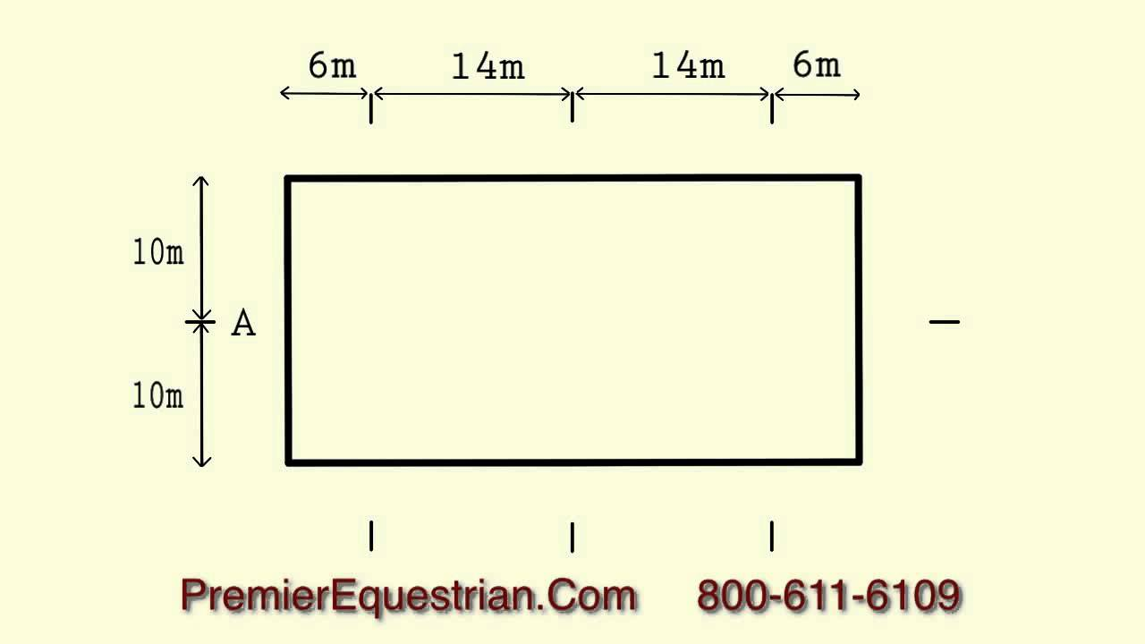 how to set up dressage letters 20x40 arena premier equestrian