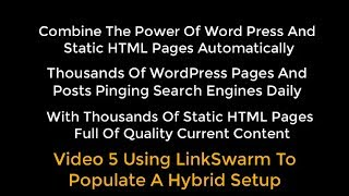 OTP Combining WP With HTML Pages Using Organic Traffic Platform Hybrid Video 5