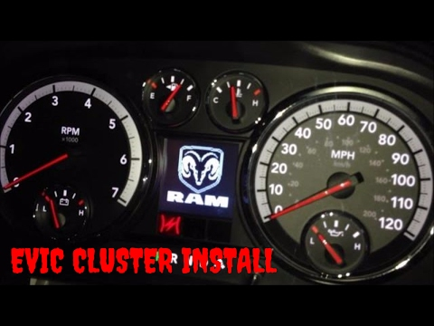 4th Gen (2009-2012) Dodge Ram 1500/2500/3500 EVIC Instrument Panel/Cluster Installation Video