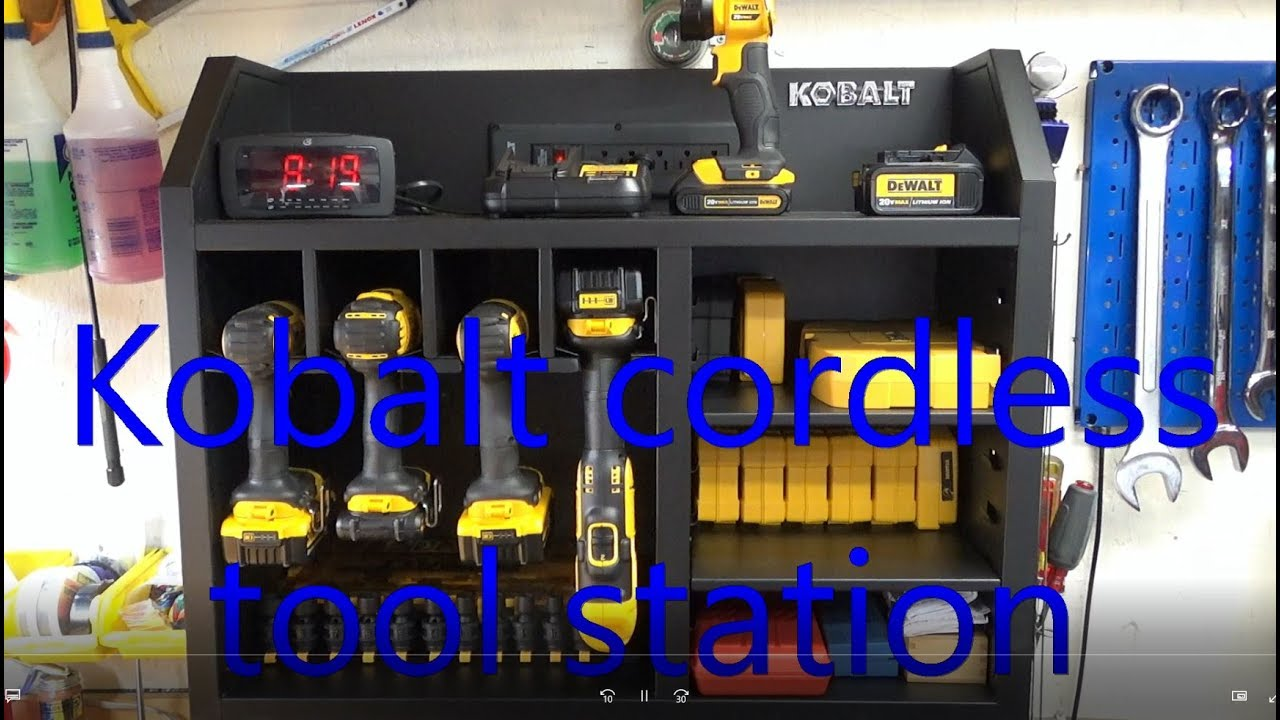 Kobalt Tool Cabinet >> Kobalt cordless tool station - YouTube