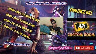 [ LIVE ] Chalenge Kill & Custoom Room Berhadiah!!!