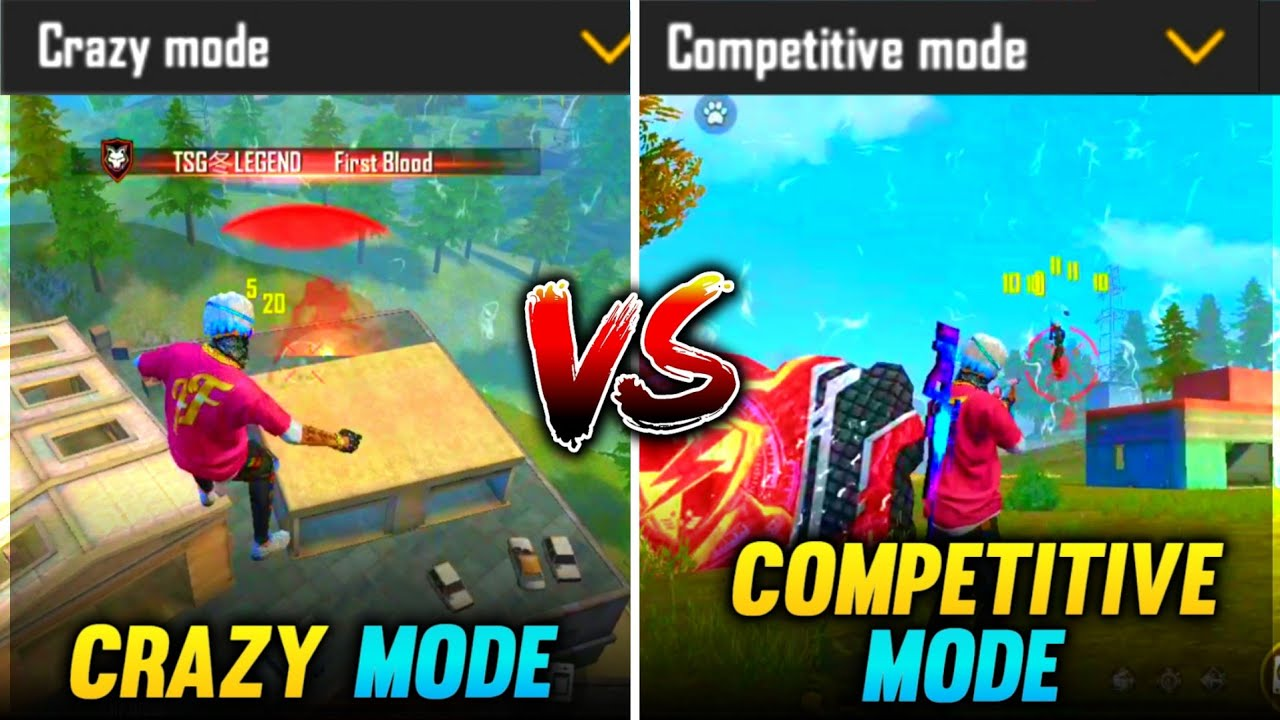 FREE FIRE || CRAZY MODE VS COMPETITIVE MODE || WHICH MODE IS BETTER || CLASH SQUAD || #tsgarmy