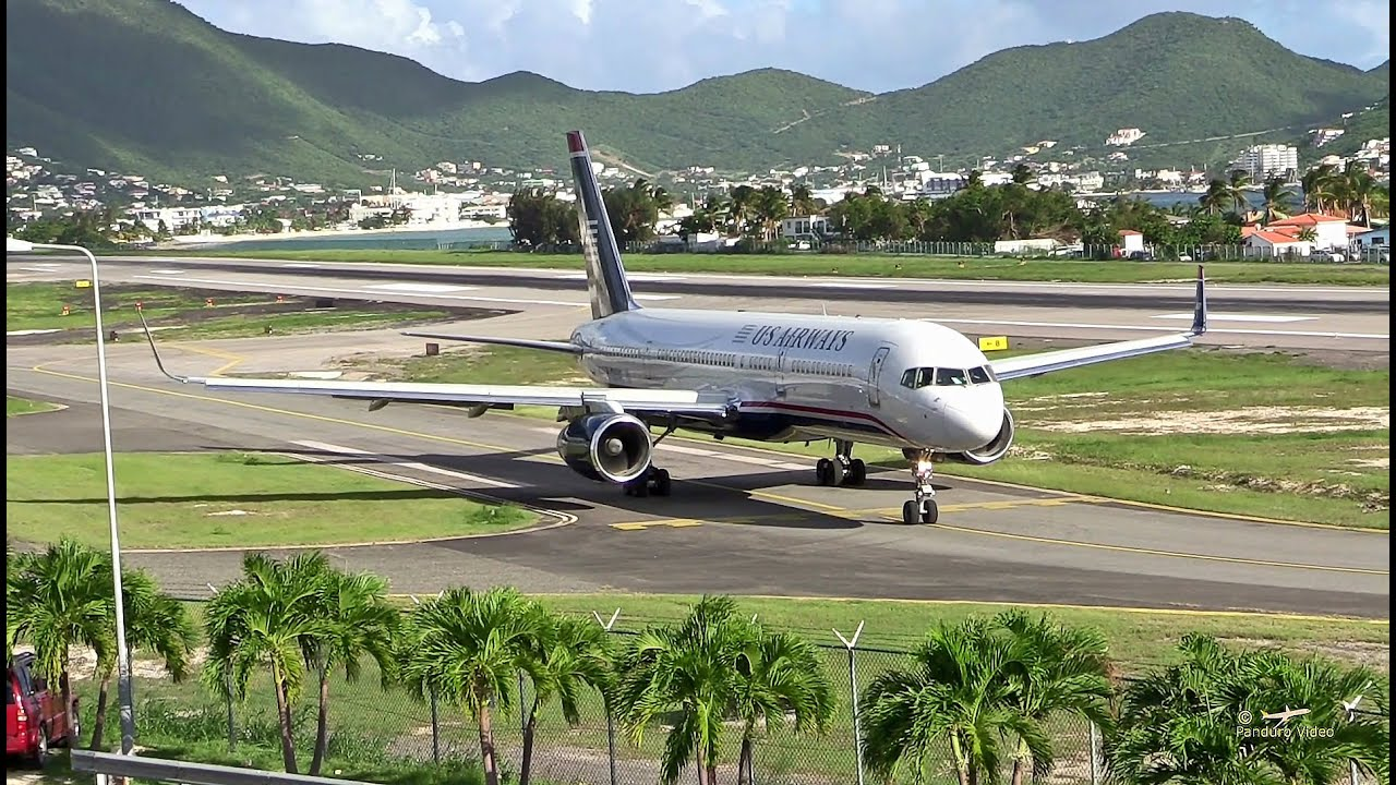 This 757's Last Second Aborted Landing In St  Martin Is