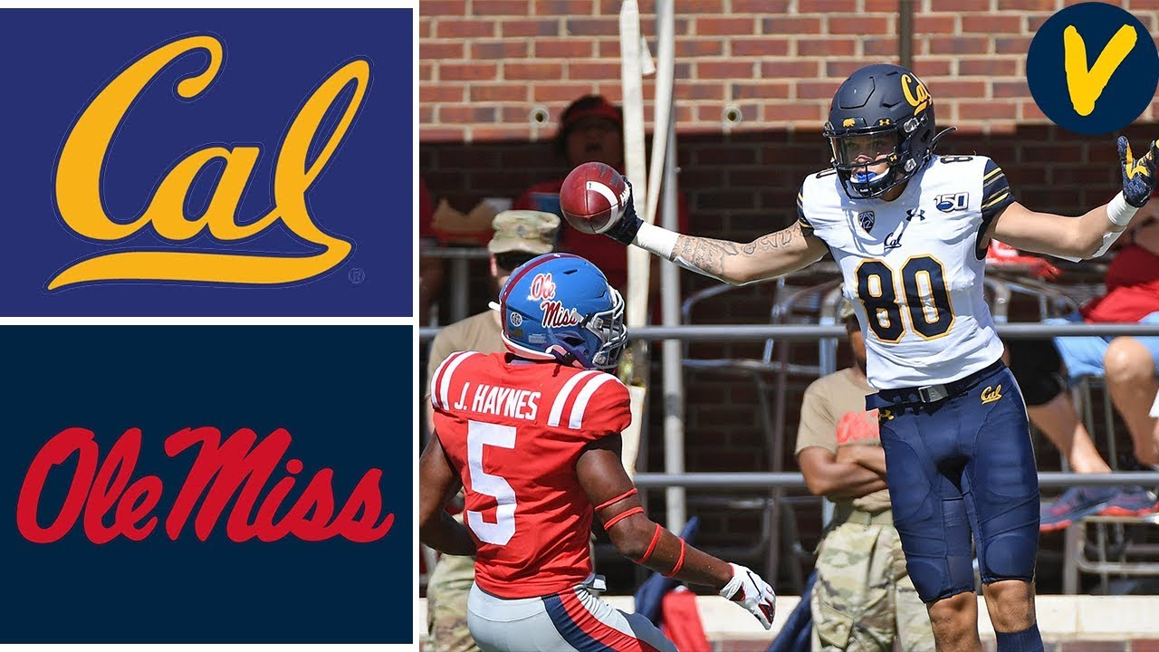 NCAAF Week 4 #23 Cal vs Ole Miss College Football Full Game Highlights