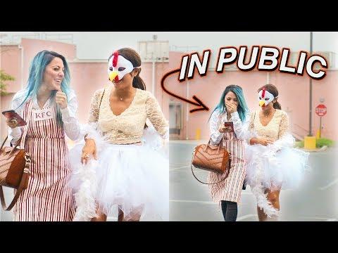 Halloween Costumes in Public Challenge