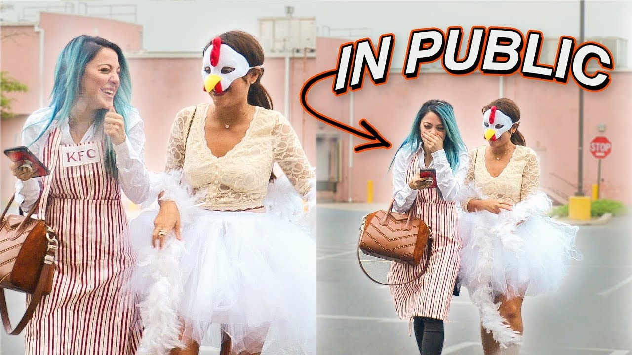 halloween costumes in public challenge - youtube