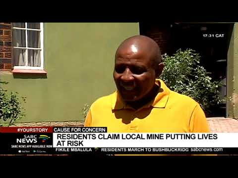 Cullinan Residents Claim Local Mine Putting Lives At Risk