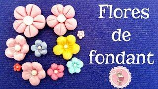 Tutorial - Cómo hacer flores de fondant fáciles| Mi tarta preferida