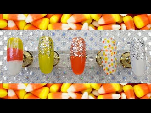 Candy Corn Halloween Nail Art Tutorial