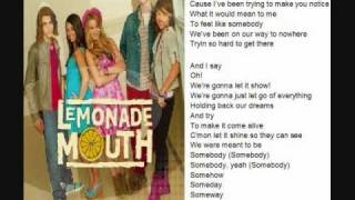 Lemonade Mouth - Somebody - with lyrics + [download link]