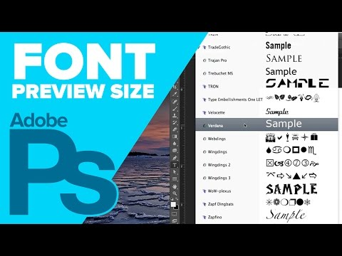 How to Change Font Preview Size in Photoshop