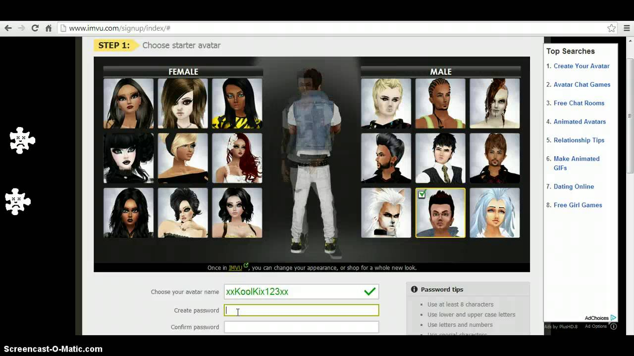 free online avatar dating games