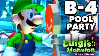 Luigi's Mansion Dark Moon - Haunted Towers - B-4 Pool Party (Nintendo 3DS Gameplay Walkthrough)