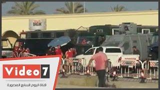 إجراءات أمنية مشددة بمداخل استاد برج العرب استعدادا لموقعة الأهلى والوداد المغربى