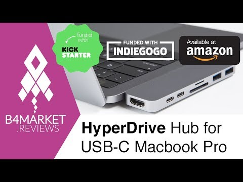 Review Hyperdrive Macbook Pro hub on Kickstarter, Indiegogo and Amazon