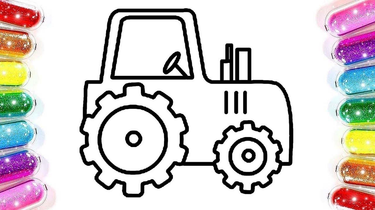 Traktör Boyama Renkleri öğreniyorum Boyama Oyunu çizgi Film çocuk