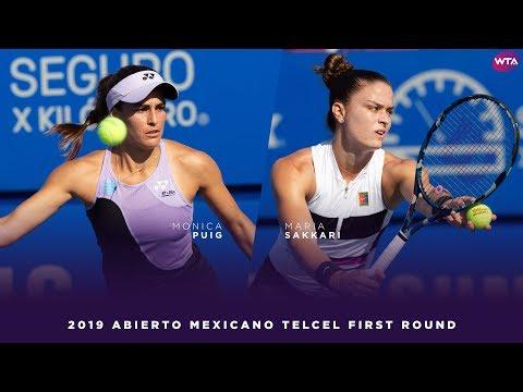 Monic Puig vs. Maria Sakkari | 2019 Acapulco First Round | WTA Highlights